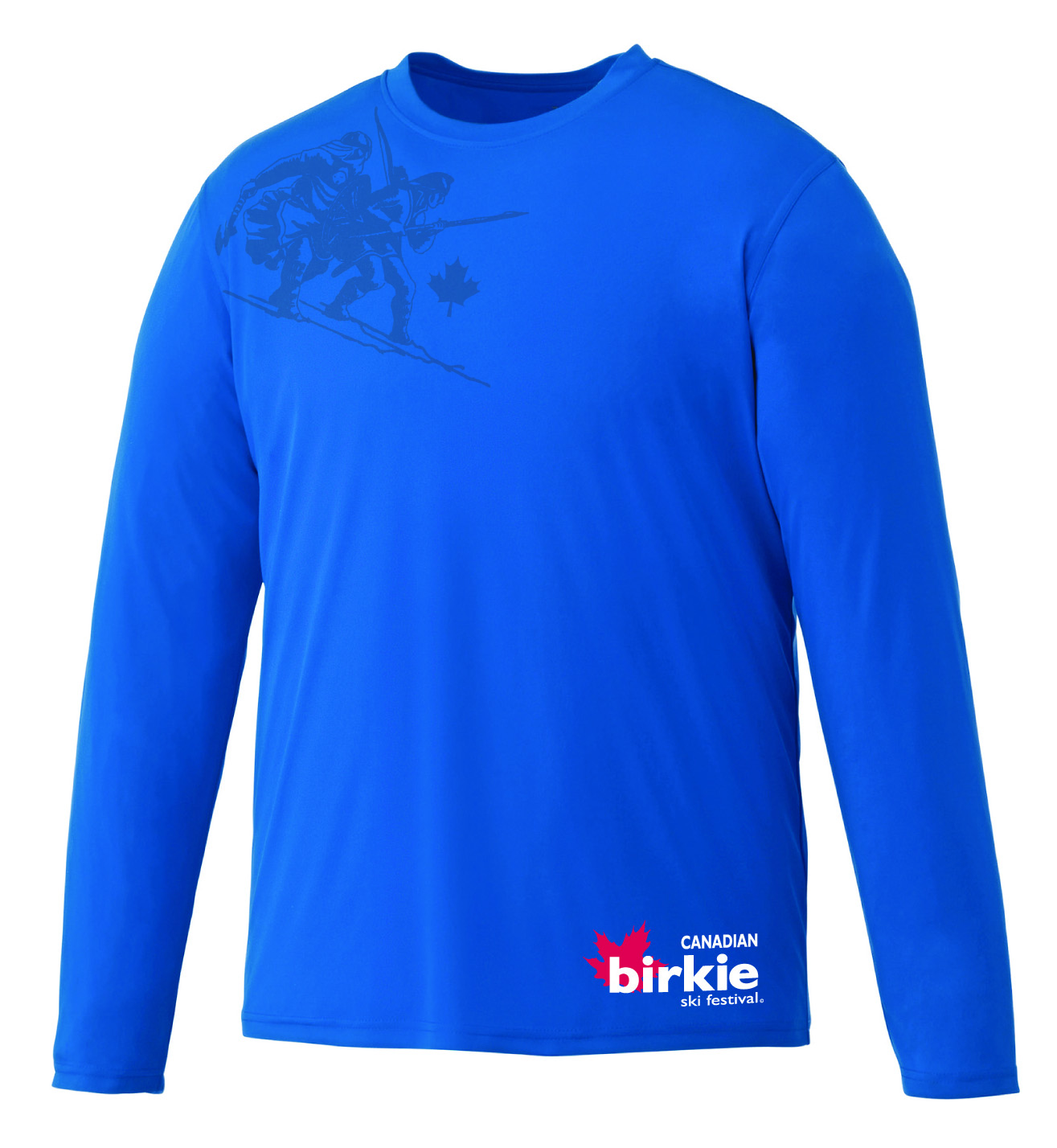 Birkie Blue Long Sleeve Tech Shirt